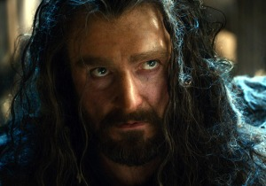 Thorin with spiderwebs in his hair